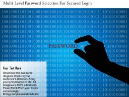 Multi Level Password Selection For Secured Login Ppt Slides