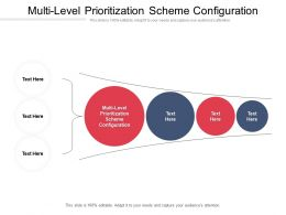 Multi Level Prioritization Scheme Configuration Ppt Powerpoint Presentation Styles Rules Cpb