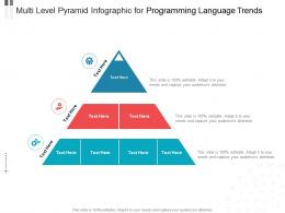 Multi Level Pyramid For Programming Language Trends Infographic Template