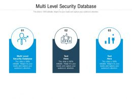 Multi Level Security Database Ppt Powerpoint Presentation File Template Cpb