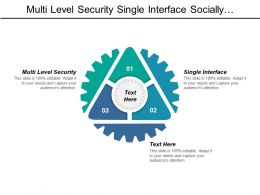 Multi Level Security Single Interface Socially Responsible Business
