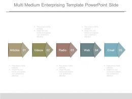 Multi Medium Enterprising Template Powerpoint Slide