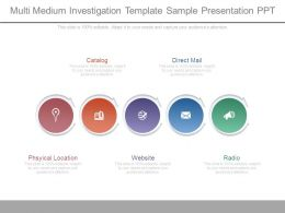 Multi Medium Investigation Template Sample Presentation Ppt