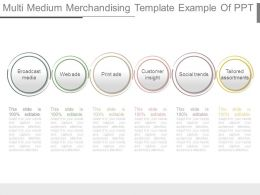 Multi Medium Merchandising Template Example Of Ppt