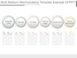 Multi Medium Merchandising Template Example Of Ppt
