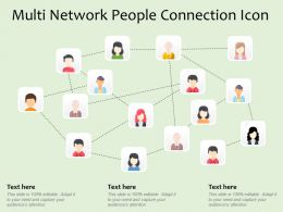 Multi Network People Connection Icon