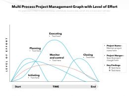 Multi Process Project Management Graph With Level Of Effort