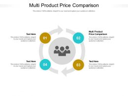 Multi Product Price Comparison Ppt Powerpoint Presentation Outline Cpb