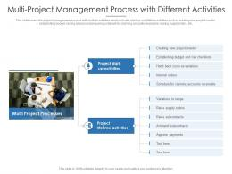 Multi Project Management Process With Different Activities