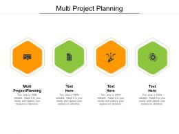 Multi Project Planning Ppt Powerpoint Presentation Visual Aids Styles Cpb