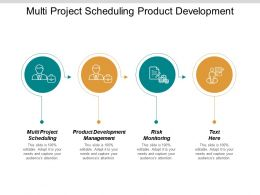 Multi Project Scheduling Product Development Management Risk Monitoring Cpb