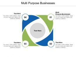 Multi Purpose Businesses Ppt Powerpoint Presentation Portfolio Graphics Design Cpb