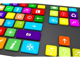 Multi Purpose Key Board For Business And Services Stock Photo