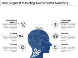 Multi Segment Marketing Concentrated Marketing Niche Marketing Global Market