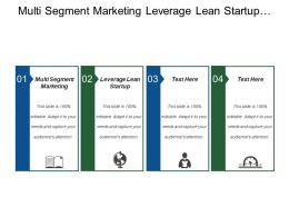 Multi Segment Marketing Leverage Lean Startup Product Reviews