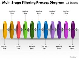 Multi Stage Filtering Process Diagram 11 Stages Proto Typing Powerpoint Templates