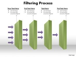 multi stage filtering process slides presentation diagrams templates powerpoint info graphics