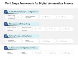 Multi Stage Framework For Digital Automation Process