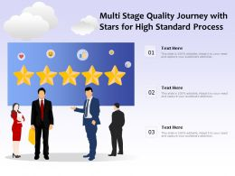 Multi Stage Quality Journey With Stars For High Standard Process