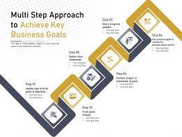 Multi Step Approach To Achieve Key Business Goals