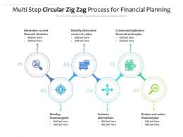 Multi Step Circular Zig Zag Process For Financial Planning