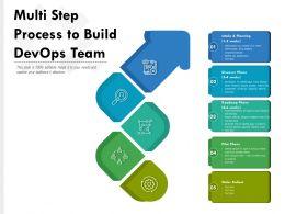 Multi Step Process To Build Devops Team