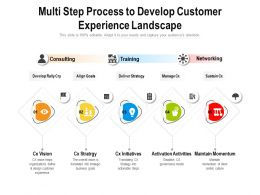 Multi Step Process To Develop Customer Experience Landscape