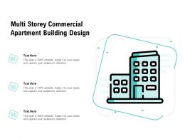 Multi Storey Commercial Apartment Building Design