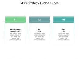 Multi Strategy Hedge Funds Ppt Powerpoint Presentation Portfolio Clipart Cpb