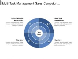 Multi Task Management Sales Campaign Management Marketing Professional Cpb