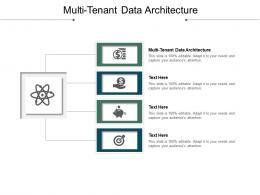 Multi Tenant Data Architecture Ppt Powerpoint Presentation Slides Outline Cpb
