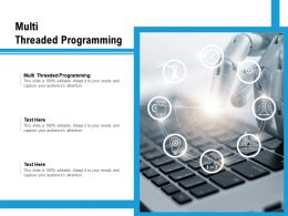 Multi Threaded Programming Ppt Powerpoint Presentation Pictures Icons Cpb