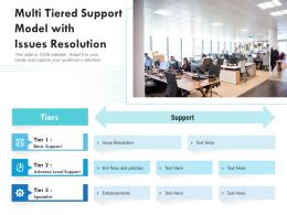 Multi Tiered Support Model With Issues Resolution