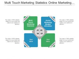 Multi Touch Marketing Statistics Online Marketing Budget Allocation Cpb