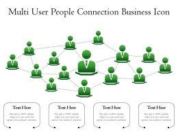 Multi User People Connection Business Icon
