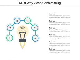 Multi Way Video Conferencing Ppt Powerpoint Presentation Model Sample Cpb