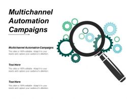Multichannel Automation Campaigns Ppt Powerpoint Presentation Infographic Template Mockup Cpb