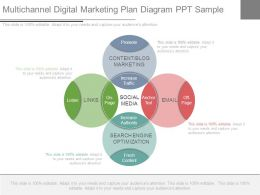 Multichannel Digital Marketing Plan Diagram Ppt Sample