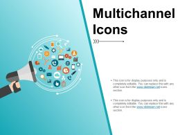 Multichannel Icons Powerpoint Layout