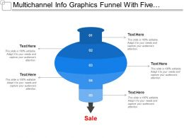 Multichannel Info Graphics Funnel With Five Bubbles Showing Arrows