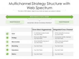 Multichannel Strategy Structure With Web Spectrum