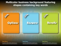 Multicolor Business Background Featuring Shapes Containing Key Words