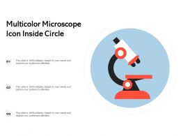 Multicolor Microscope Icon Inside Circle