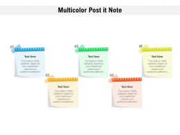 Multicolor Post It Note