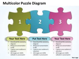 Multicolor Puzzle Diagram Powerpoint templates ppt presentation slides 0812