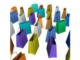 Multicolor Shopping Bags Stock Photo