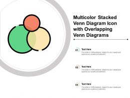 Multicolor Stacked Venn Diagram Icon With Overlapping Venn Diagrams