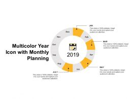 Multicolor Year Wheel With Monthly Planning