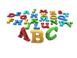Multicolored Alphabet On White Background Stock Photo