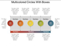 Multicolored Circles With Boxes